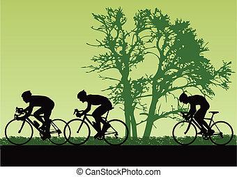 proffesional, kerékpárosok