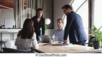 profi, brigád munka, hivatal, ötletvihar, különböző, modern