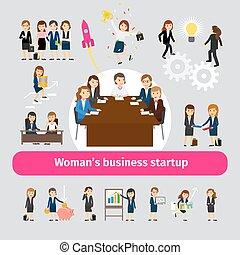 profi, networking, ügy woman