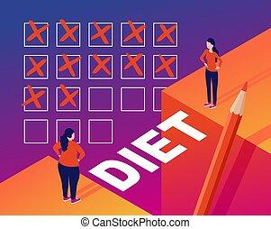 program, -, fogalom, kár, súly, isometric, diéta