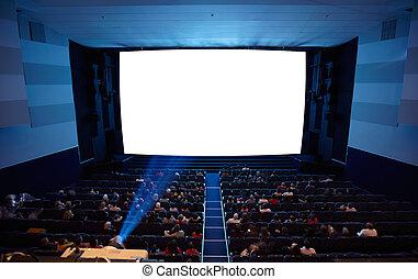 projector., fény, előadóterem, mozi