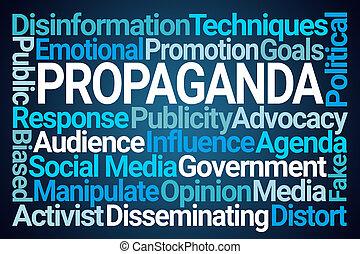 propaganda, szó, felhő