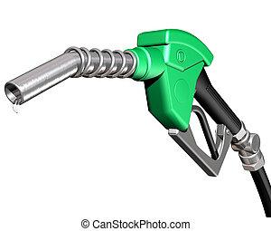 pumpa, gáz, csöpögő, fúvóka