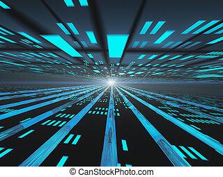 rács, internet, horizont, erő, sötét