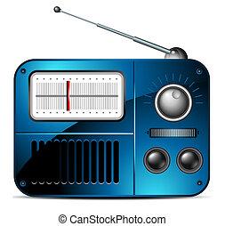 rádió, fm, ikon, öreg