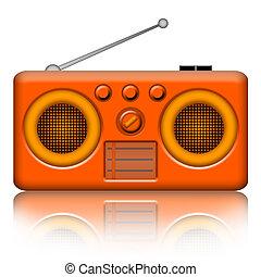rádió, telefonkagyló