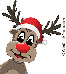 rénszarvas, karácsony, piros orr