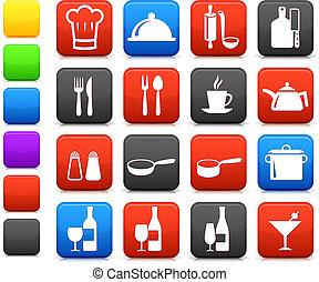 részlet, főzés, internet, gyűjtés, ikon