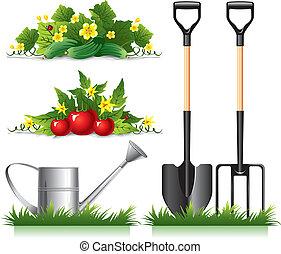 részlet, kertészkedés, kapcsolódó