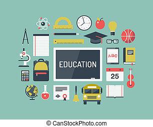részlet, oktatás, állhatatos, lakás, ikonok