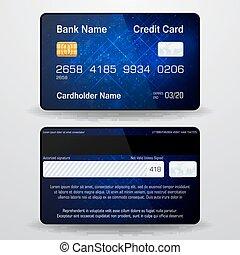 részletes, gyakorlatias, vektor, card., hitel