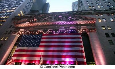 részvény, billenés, cserél, york, új