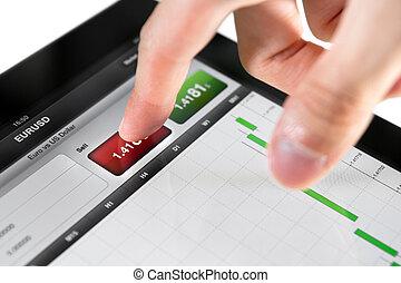 részvény, eladás, piac