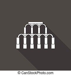 római, ősi, építészet, ikon