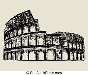 római, coliseum.