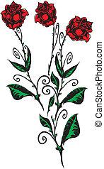 rózsa, elkészített, eps