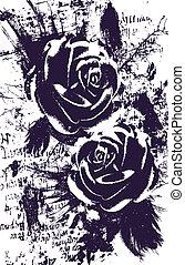 rózsa, elvont, művészi, háttér