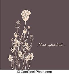 rózsa, elvont, virág, háttér