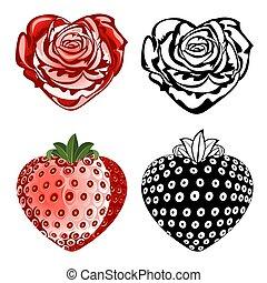 rózsa, eper