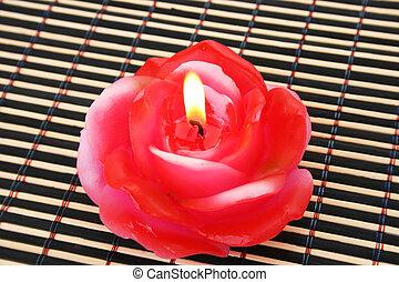 rózsa, gyertya