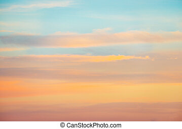 rózsaszínű, ég, befest, napnyugta, narancs, sápadt, piros