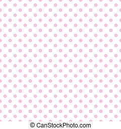 rózsaszínű, ékezetez, fehér, polka, sápadt