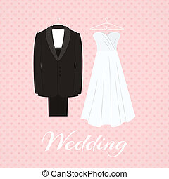 rózsaszínű öltöny, mellett, háttér, esküvő öltözködik