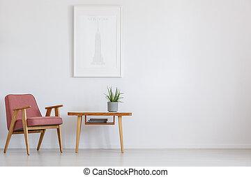 rózsaszínű, asztal, szék, következő