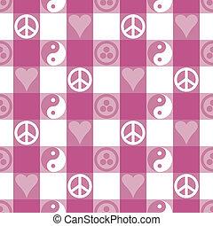 rózsaszínű, béke, pléd