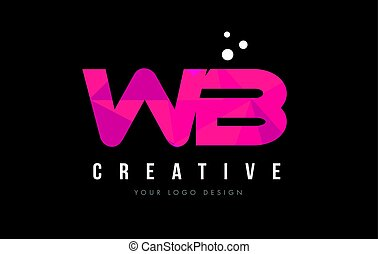 rózsaszínű, b betű, wb, bíbor, poly, fogalom, alacsony, nyugat, levél, jel, háromszögek