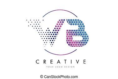 rózsaszínű, b betű, wb, pontozott, vektor, tervezés, nyugat, levél, jel, fukszin, buborék