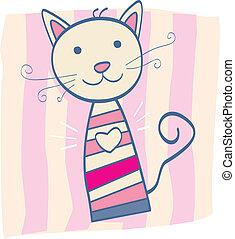 rózsaszínű, cica