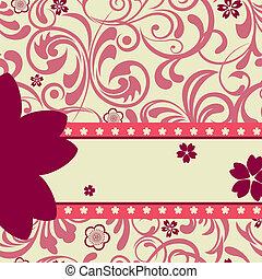 rózsaszínű, cseresznye virágzik, háttér