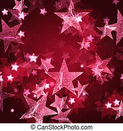 rózsaszínű, csillaggal díszít
