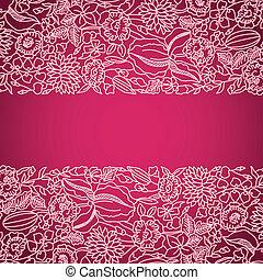rózsaszínű, díszítő, befűz, kártya