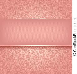 rózsaszínű, díszítő, befűz, textural., 10, eps, háttér, vektor, szerkezet
