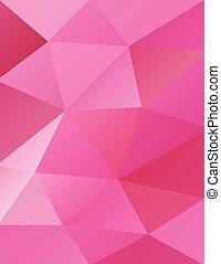 rózsaszínű, elvont, háromszögek, háttér