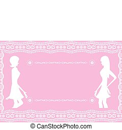 rózsaszínű, elvont, háttér, nők