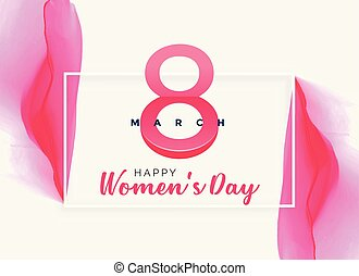 rózsaszínű, elvont, women's, vízfestmény, háttér, nap