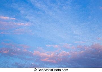 rózsaszínű, félhomály, felhő