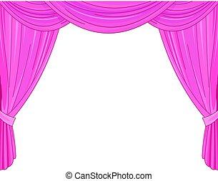 rózsaszínű függöny