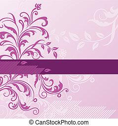 rózsaszínű, floral lobogó, háttér