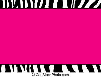 rózsaszínű, fluoreszkáló, zebra, sablon