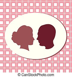 rózsaszínű, fon., lovers., fiú, körvonal, leány