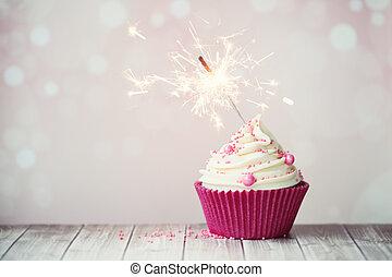 rózsaszínű, gyémánt, cupcake