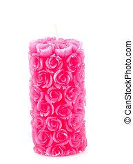 rózsaszínű, gyertya