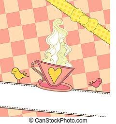 rózsaszínű, kávécserje, transzparens, csésze