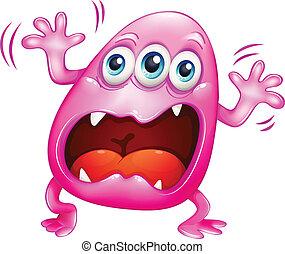 rózsaszínű, kiabálás, because, szörny, csalódottság