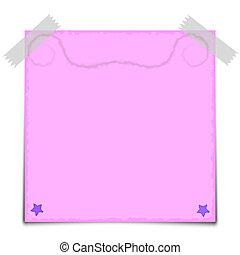 rózsaszínű, kottapapír, vektor