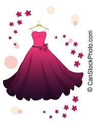 rózsaszínű lapos, ruha